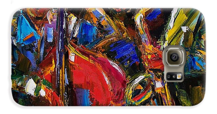 Jazz Galaxy S6 Case featuring the painting Jazz by Debra Hurd
