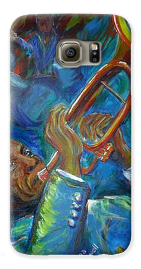 Jazz Galaxy S6 Case featuring the painting Jazz Man by Regina Walsh