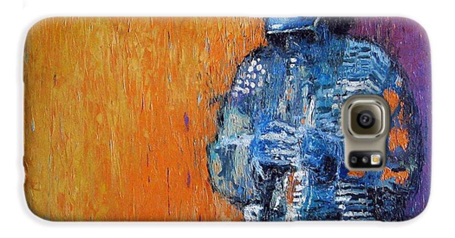 Jazz Galaxy S6 Case featuring the painting Jazz Miles Davis 2 by Yuriy Shevchuk