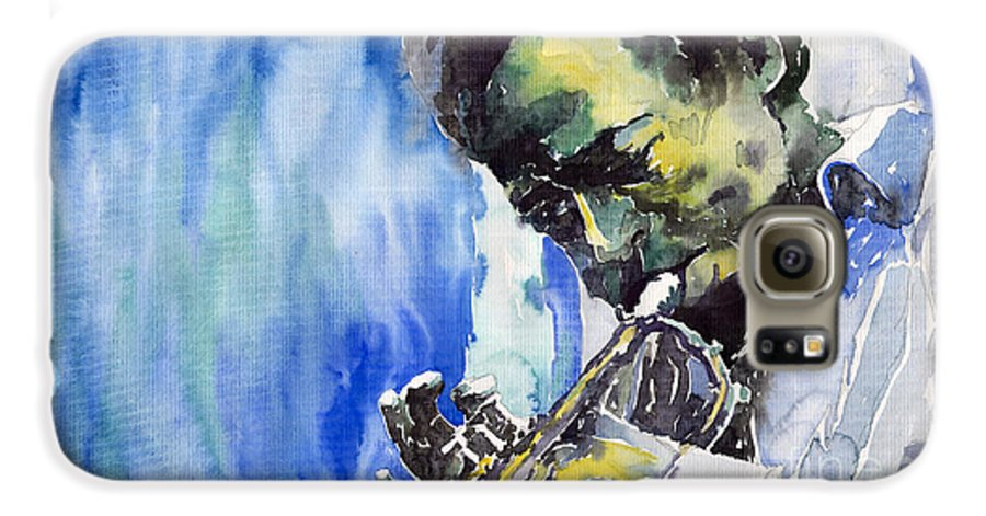 Galaxy S6 Case featuring the painting Jazz Miles Davis 5 by Yuriy Shevchuk