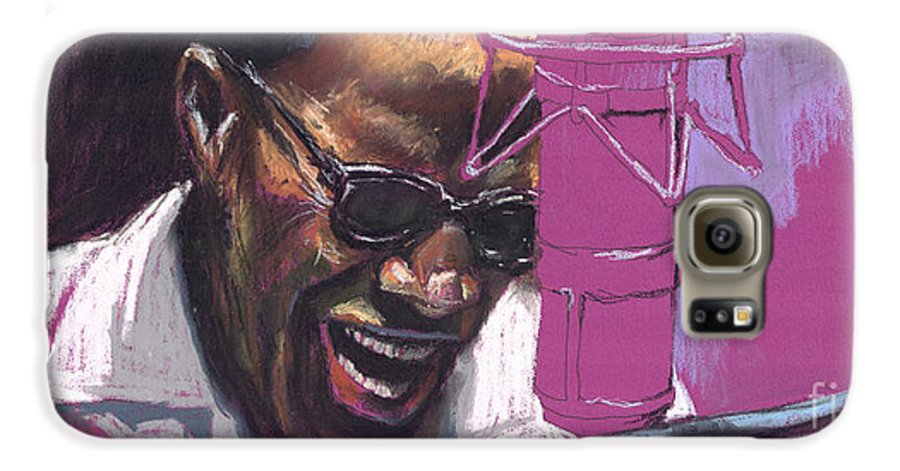 Jazz Galaxy S6 Case featuring the painting Jazz Ray by Yuriy Shevchuk