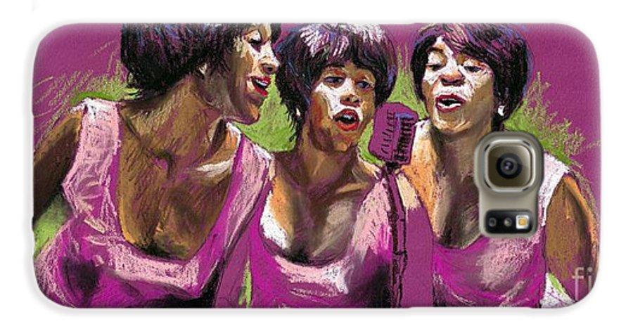 Jazz Galaxy S6 Case featuring the painting Jazz Trio by Yuriy Shevchuk