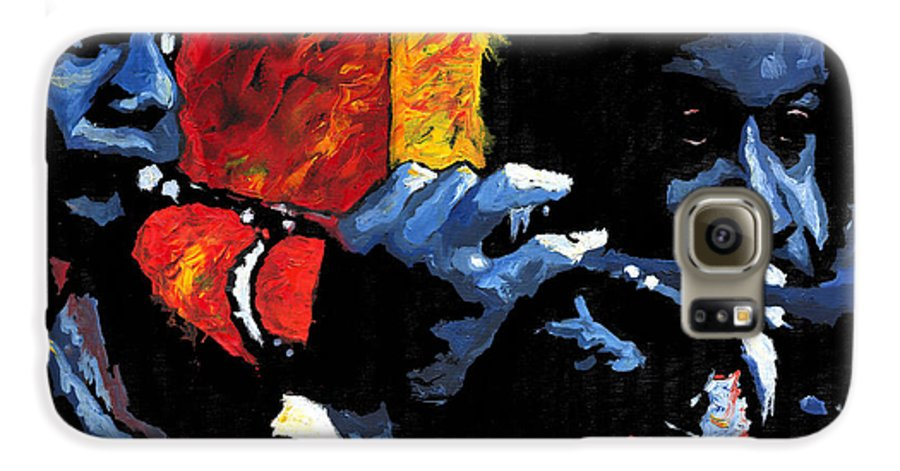 Jazz Galaxy S6 Case featuring the painting Jazz Trumpeters by Yuriy Shevchuk
