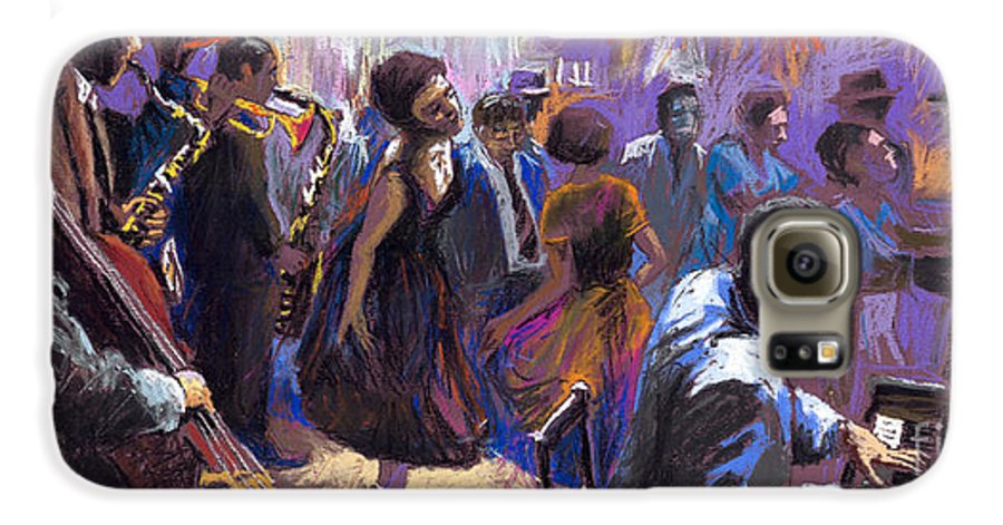 Jazz.pastel Galaxy S6 Case featuring the painting Jazz by Yuriy Shevchuk