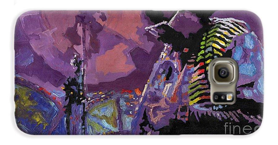 Jazz Galaxy S6 Case featuring the painting Jazz.miles Davis.4. by Yuriy Shevchuk