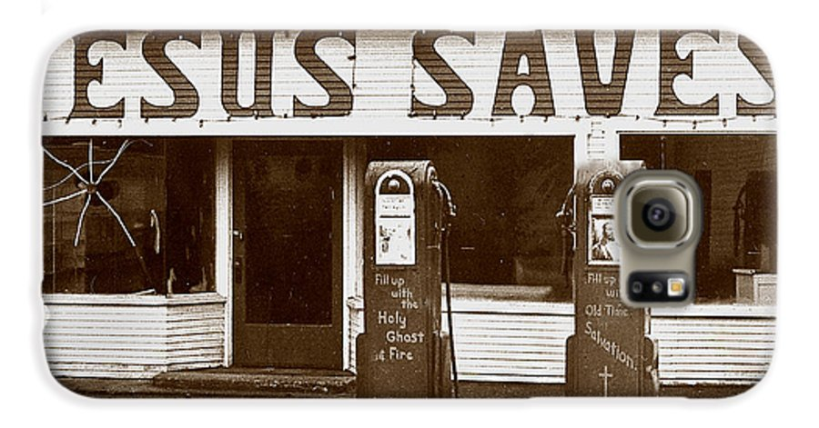 Jesus Galaxy S6 Case featuring the photograph Jesus Saves 1973 by Michael Ziegler