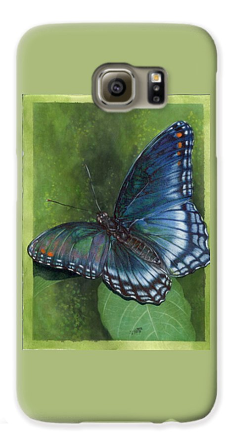 Insects Galaxy S6 Case featuring the mixed media Jewel Tones by Barbara Keith