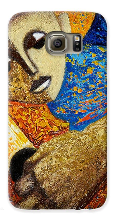 Color Galaxy S6 Case featuring the painting Jibaro Y Sol by Oscar Ortiz