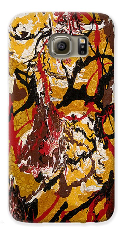 Abstract Art Galaxy S6 Case featuring the painting Joe Sweet by Jill English