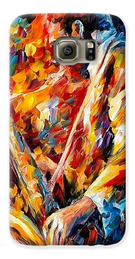 Music Galaxy S6 Case featuring the painting John Coltrane by Leonid Afremov