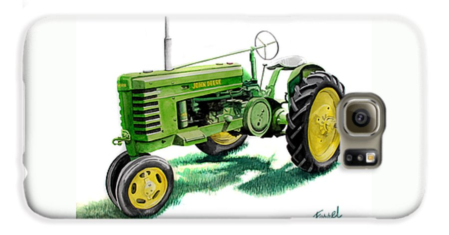 John Deere Tractor Galaxy S6 Case featuring the painting John Deere Tractor by Ferrel Cordle