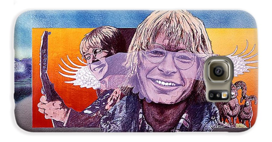John Denver Galaxy S6 Case featuring the mixed media John Denver by John D Benson