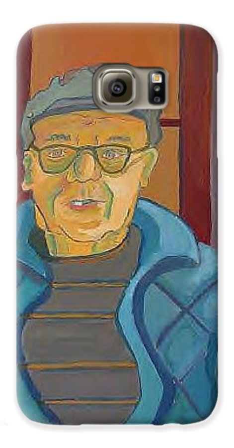 Portrait Galaxy S6 Case featuring the painting John Paris by Debra Bretton Robinson
