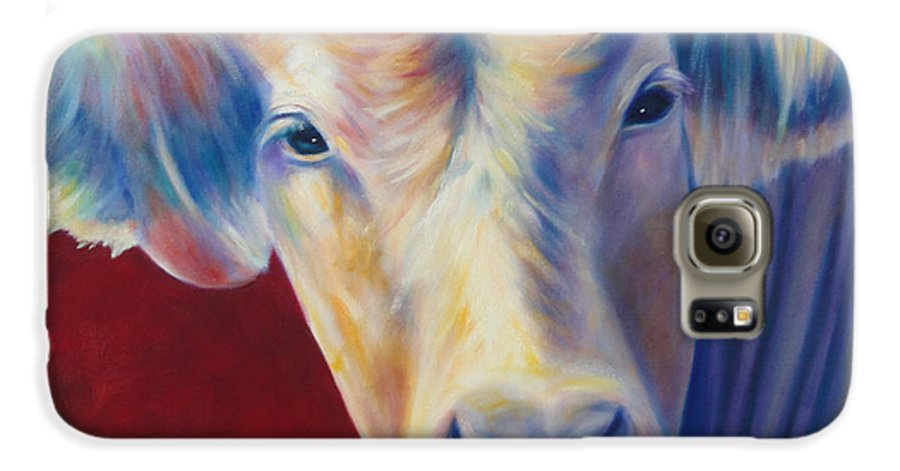 Bull Galaxy S6 Case featuring the painting Jorge by Shannon Grissom