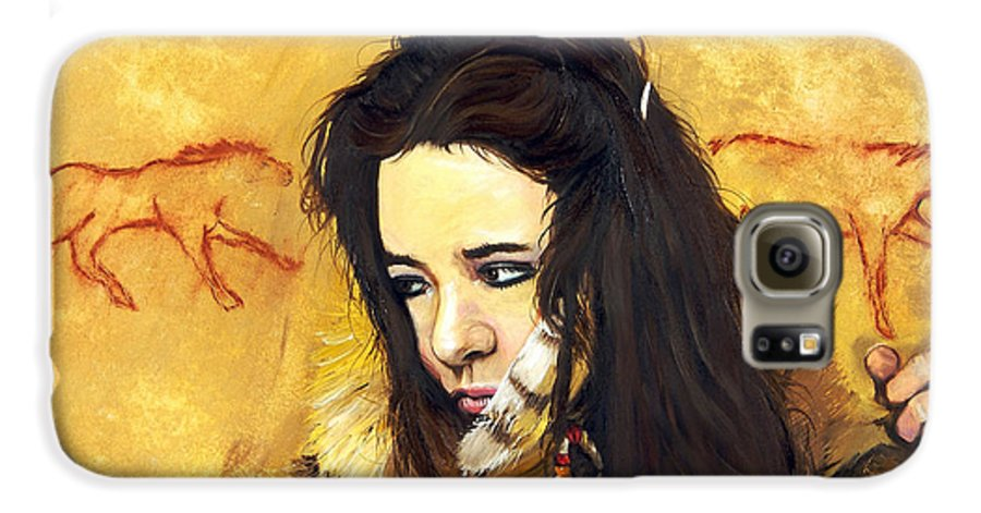 Southwest Art Galaxy S6 Case featuring the painting Journey by J W Baker