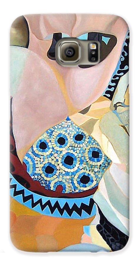 Figyrative Galaxy S6 Case featuring the painting Jurney by Antoaneta Melnikova- Hillman