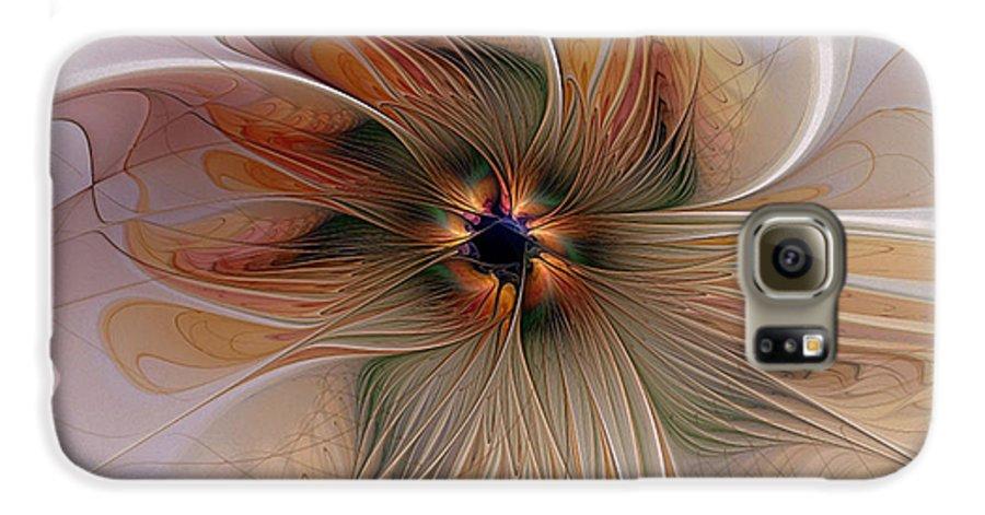 Digital Art Galaxy S6 Case featuring the digital art Just Peachy by Amanda Moore