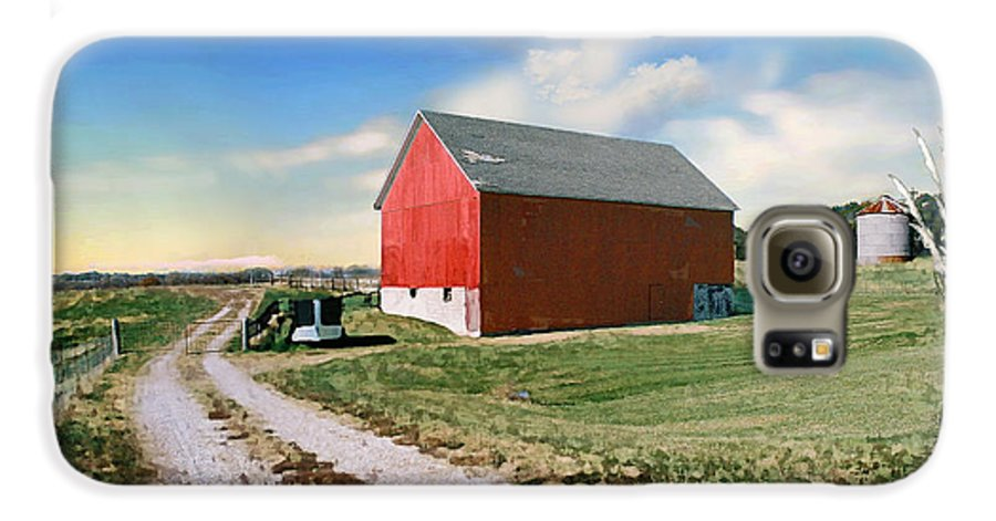 Barn Galaxy S6 Case featuring the photograph Kansas Landscape II by Steve Karol
