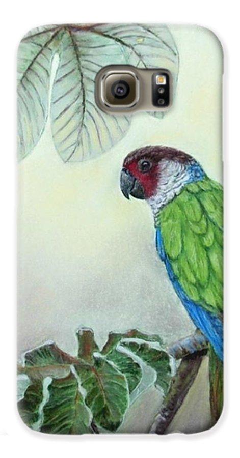 Wildlife Galaxy S6 Case featuring the painting Kasanga Bajo El Guarumo by Ceci Watson