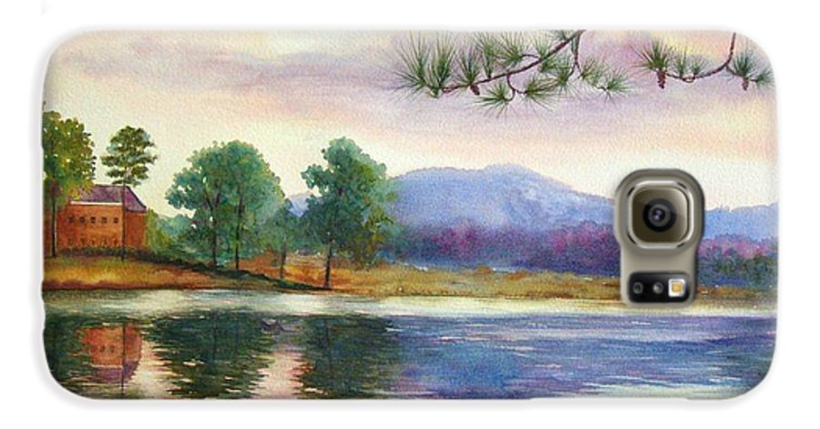 Marietta Galaxy S6 Case featuring the painting Kennesaw Mt. by Ann Cockerill