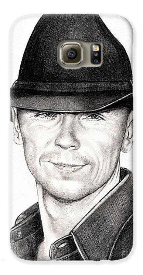 Portrait Galaxy S6 Case featuring the drawing Kenny Chesney by Murphy Elliott