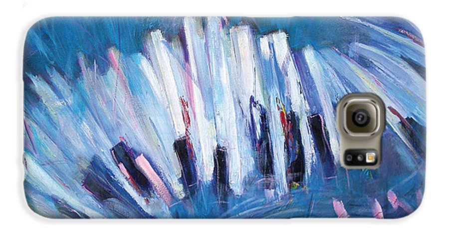 Piano Galaxy S6 Case featuring the painting Keys by Jude Lobe