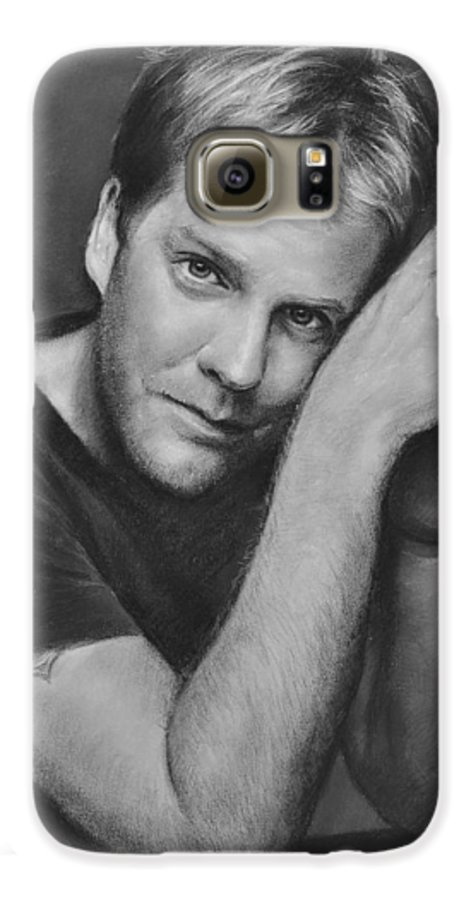 Portraits Galaxy S6 Case featuring the drawing Kiefer Sutherland by Iliyan Bozhanov