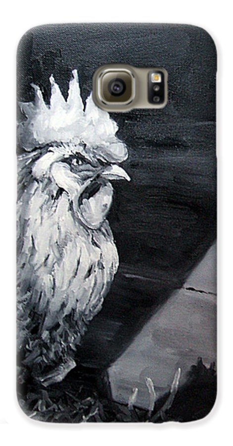 Animal Galaxy S6 Case featuring the painting King Of The Roost by Diane Kraudelt