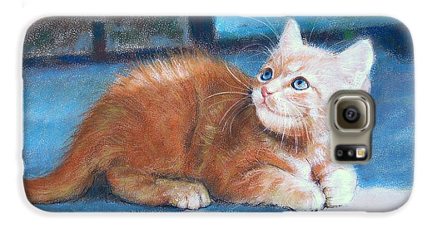 Cats Galaxy S6 Case featuring the painting Kitten by Iliyan Bozhanov