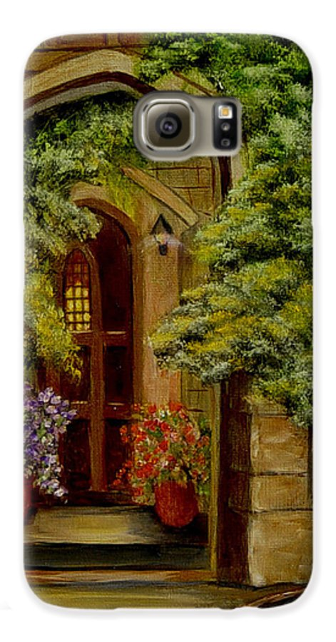 Door Galaxy S6 Case featuring the painting Knight's Door by Quwatha Valentine