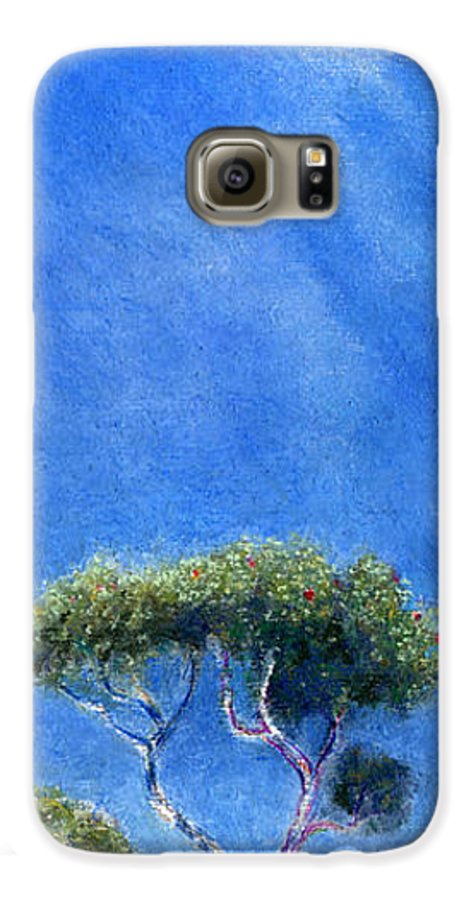 Rainbow Colors Pastel Galaxy S6 Case featuring the painting Kokee Trees by Kenneth Grzesik