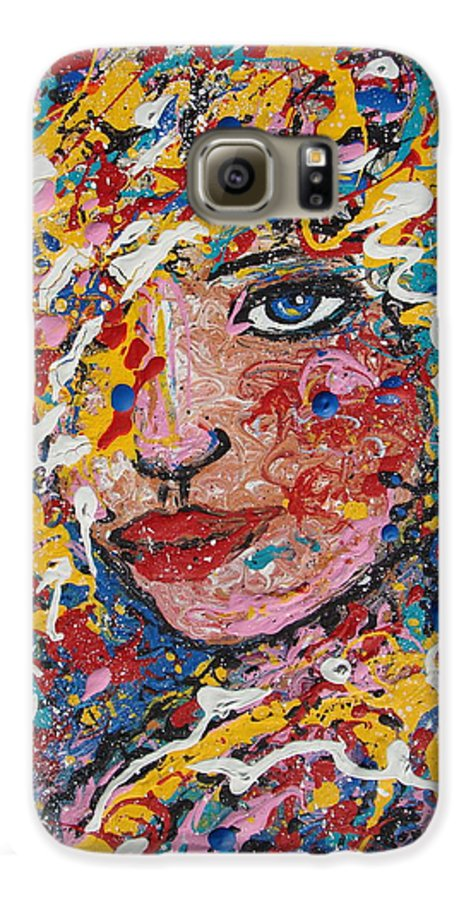 Woman Galaxy S6 Case featuring the painting Kuziana by Natalie Holland