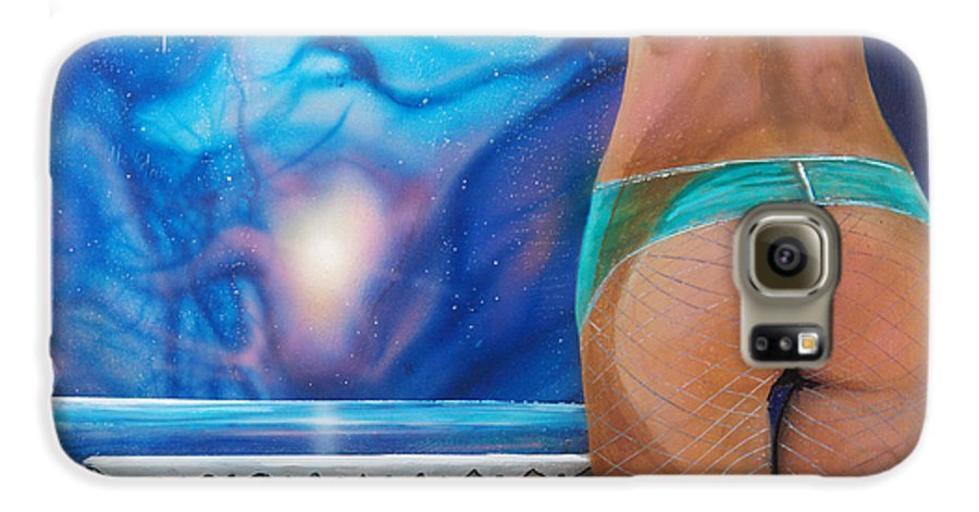 Nebula Caribe Galaxy S6 Case featuring the painting La Bailarina by Angel Ortiz