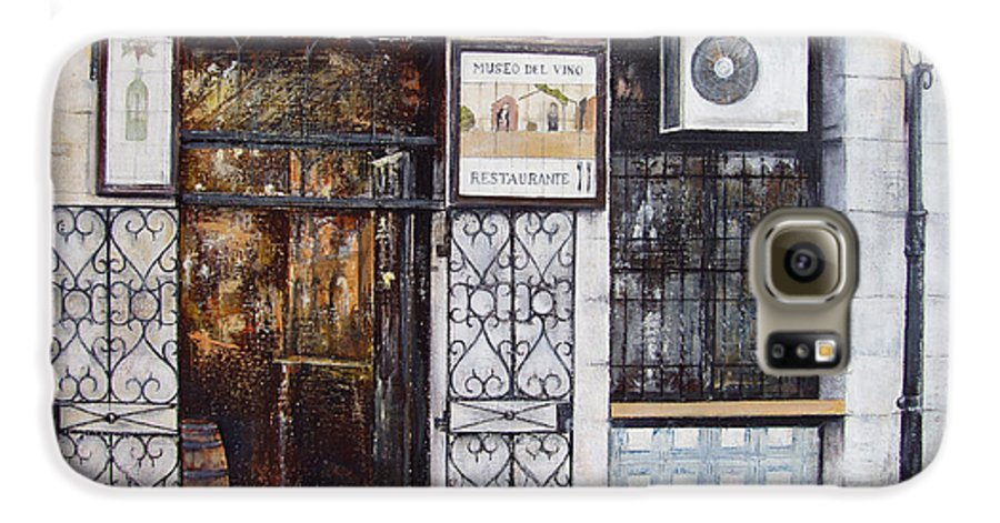 Bodega Galaxy S6 Case featuring the painting La Cigalena Old Restaurant by Tomas Castano