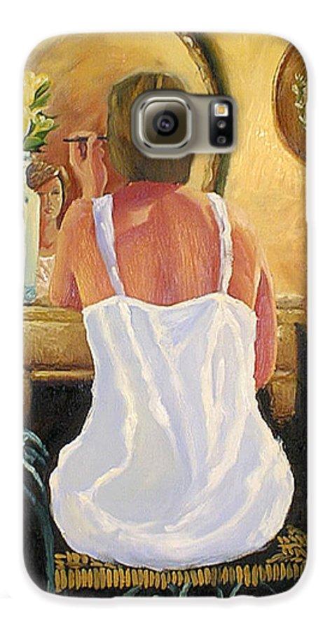 People Galaxy S6 Case featuring the painting La Coqueta by Arturo Vilmenay