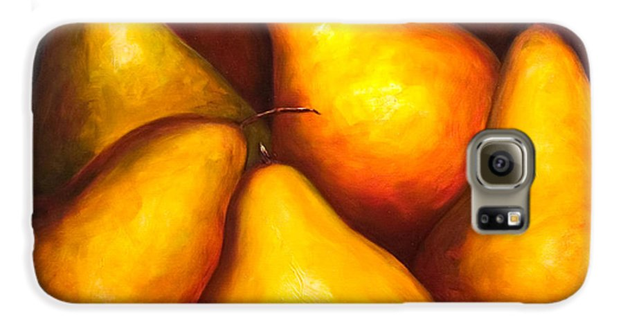 Still Life Yellow Galaxy S6 Case featuring the painting La Familia by Shannon Grissom