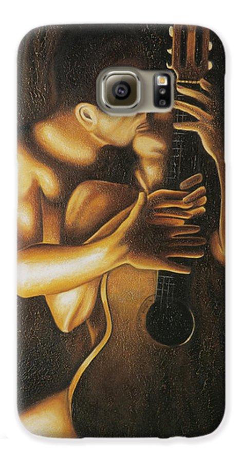 Acrylic Galaxy S6 Case featuring the painting La Serenata by Arturo Vilmenay