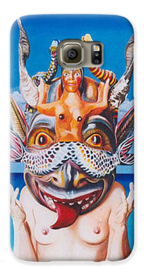 Hyperrealism Galaxy S6 Case featuring the painting La Sirena by Michael Earney