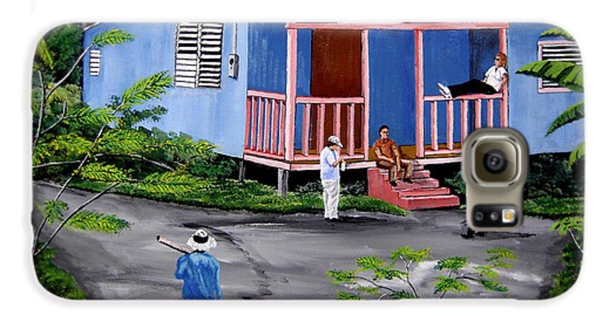 Campo Galaxy S6 Case featuring the painting La Vida En Las Montanas De Moca by Luis F Rodriguez