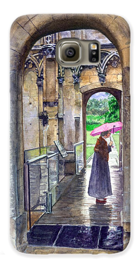 Glastonbury Galaxy S6 Case featuring the painting Lady Chapel by John D Benson