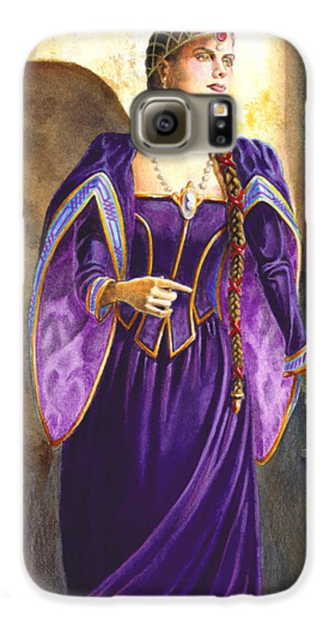 Camelot Galaxy S6 Case featuring the painting Lady Ettard by Melissa A Benson