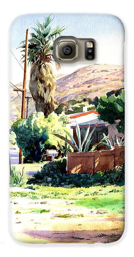 Watercolor Galaxy S6 Case featuring the painting Laguna Canyon Palm by John Norman Stewart