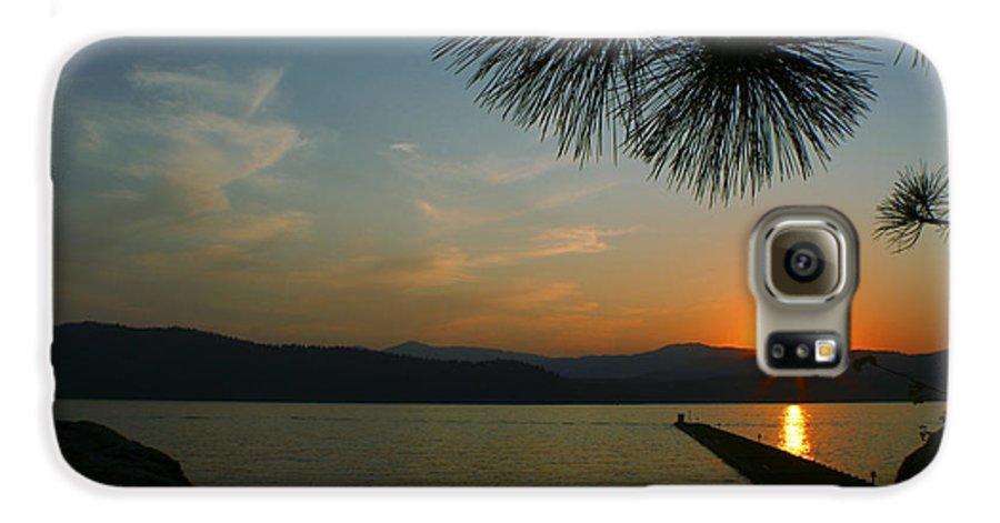 Sunset Galaxy S6 Case featuring the photograph Lake Sunset by Idaho Scenic Images Linda Lantzy