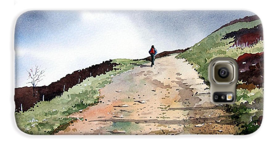 Landscape Galaxy S6 Case featuring the painting Lane To Quarry Pole Moor by Paul Dene Marlor
