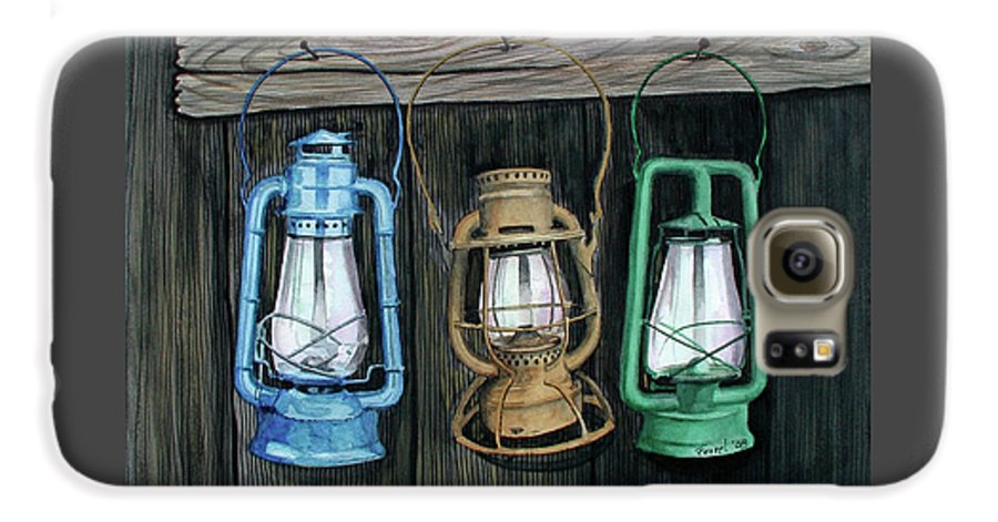 Lanterns Galaxy S6 Case featuring the painting Lanterns by Ferrel Cordle