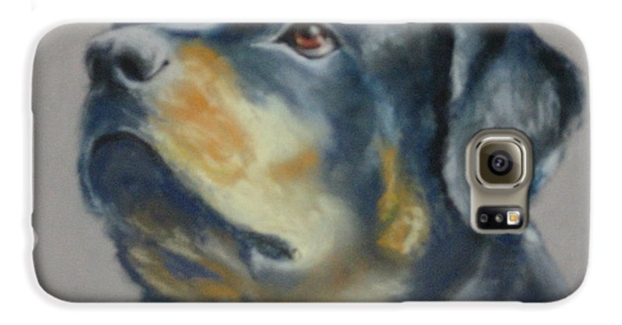 Dog Galaxy S6 Case featuring the painting Lars by Carol Mueller