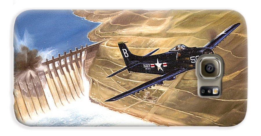 Military Galaxy S6 Case featuring the painting Last Of The Dambusters by Marc Stewart