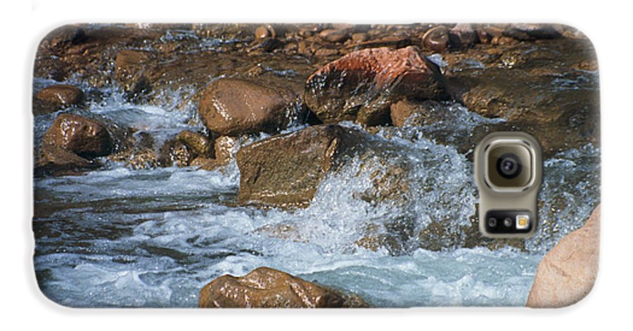 Creek Galaxy S6 Case featuring the photograph Laughing Water by Kathy McClure