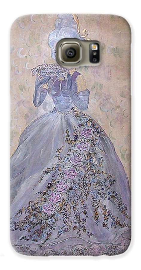 Still Life Galaxy S6 Case featuring the painting Lavender Lady by Phyllis Mae Richardson Fisher