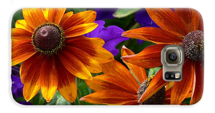 Flowers Galaxy S6 Case featuring the photograph Layers Of Color by Larry Keahey